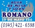 Agua de Mesa y Soda Romano